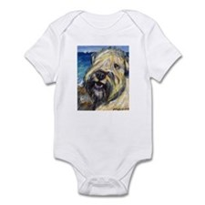 Laughing wheatie portrait Infant Bodysuit