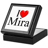 """I Love (Heart) Mira"" Keepsake Box"