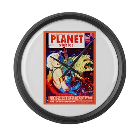 SCI FI PULP FICTION ART Large Wall Clock