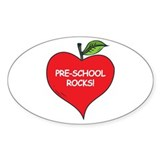 Pre-School Rocks Oval Sticker (50 pk)