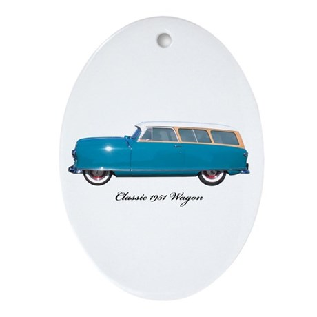 1951 Nash Wagon Oval Ornament