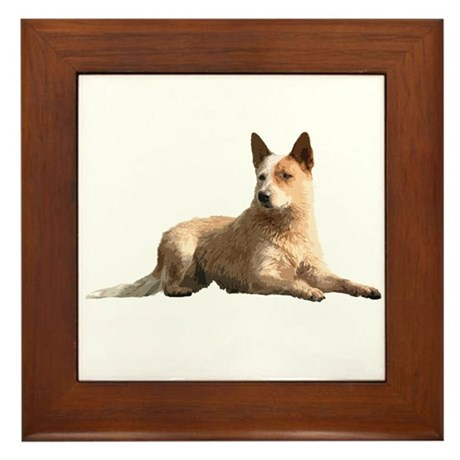 Cattle Dog Framed Tile