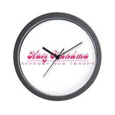 Navy Grandma - Girly Style Wall Clock