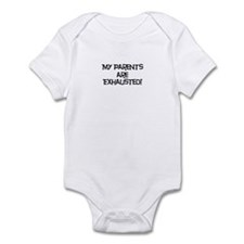 PARENTS EXHAUSTED Infant Bodysuit