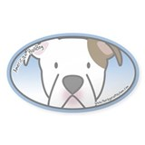 Anime American Bulldog Oval Decal
