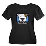 Anime American Bulldog Women's Plus Size Dark Tee
