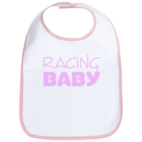 Pink Racing Baby Bib
