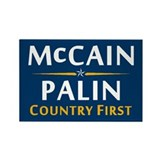 Country First - McCain Palin Rectangle Magnet