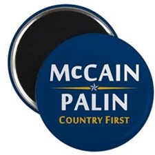 "Country First - McCain Palin 2.25"" Magnet (10"