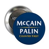 "Country First - McCain Palin 2.25"" Button"