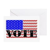 Vote American Flag 1 Greeting Card