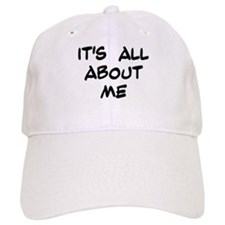 "Black ""It's All About Me"" Baseball Cap"