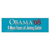 Obama 4 More Years of Carter Bumper Bumper Sticker