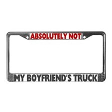 Unique Boyfriends License Plate Frame