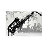 Sax Graffiti Rectangle Magnet