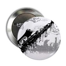 "Sax Graffiti 2.25"" Button (100 pack)"