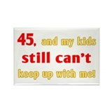 Witty 45th Birthday Rectangle Magnet (10 pack)