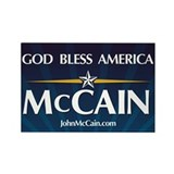 God Bless America McCain Rectangle Magnet (10 pack