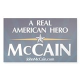 A Real American Hero McCain Rectangle Decal