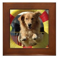 Agility Golden Framed Tile
