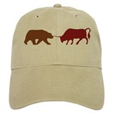 Bull and Bear Silhouette Baseball Cap