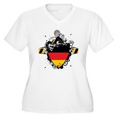 DJ Germany Women's Plus Size V-Neck T-Shirt