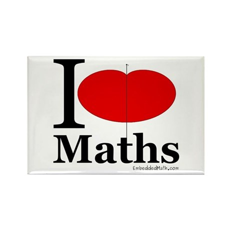 I Love Maths Rectangle Magnet (100 pack)