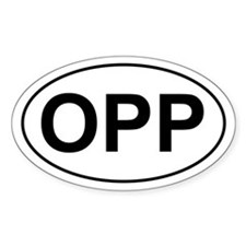 OPP Oval Decal