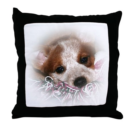 ACD Puppy Eyes Throw Pillow
