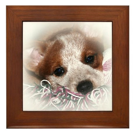 ACD Puppy Eyes Framed Tile