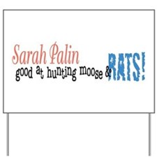 Sarah Palin Hunter Yard Sign