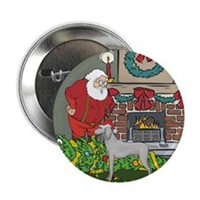 "Santa's Helper Weimaraner 2.25"" Button (100 pack)"