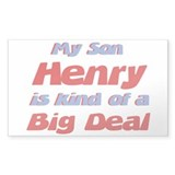 My Son Henry - Big Deal Rectangle Decal
