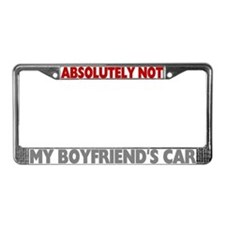 Not My Boyfriend's Car License Plate Frame