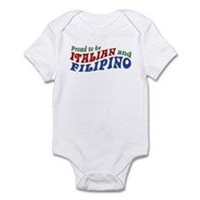 Proud to be Italian and Filipino Infant Bodysuit