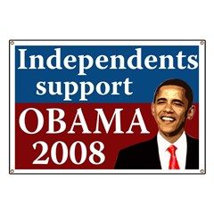 Independents support Obama campaign banner