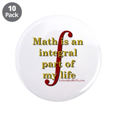 "Math is integral 3.5"" Button (10 pack)"