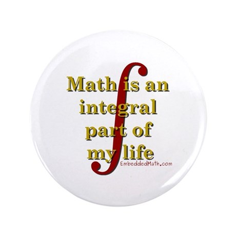 "Math is integral 3.5"" Button (100 pack)"