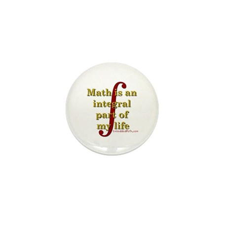 Math is integral Mini Button (100 pack)
