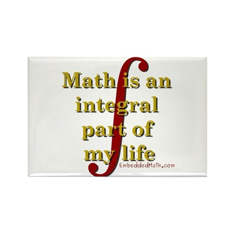 Math is integral Rectangle Magnet