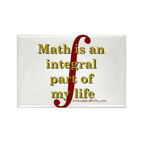 Math is integral Rectangle Magnet (100 pack)