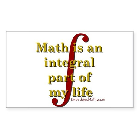 Math is integral Rectangle Sticker
