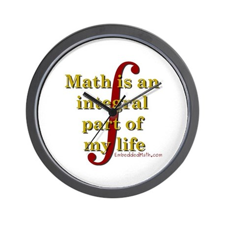 Math is integral Wall Clock