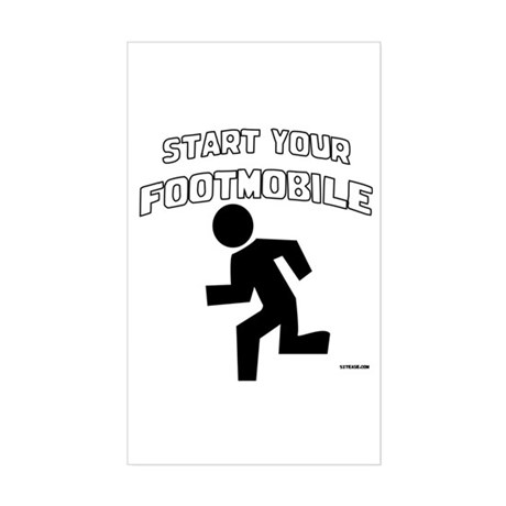 Footmobile walking/running Rectangle Sticker
