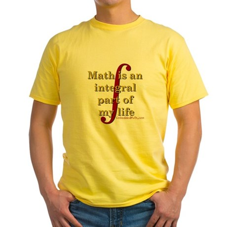 Math is integral Yellow T-Shirt