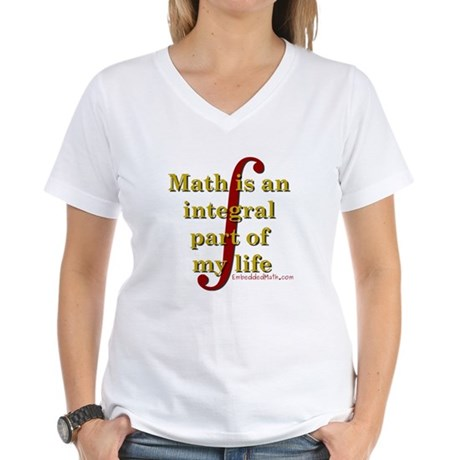 Math is integral Women's V-Neck T-Shirt