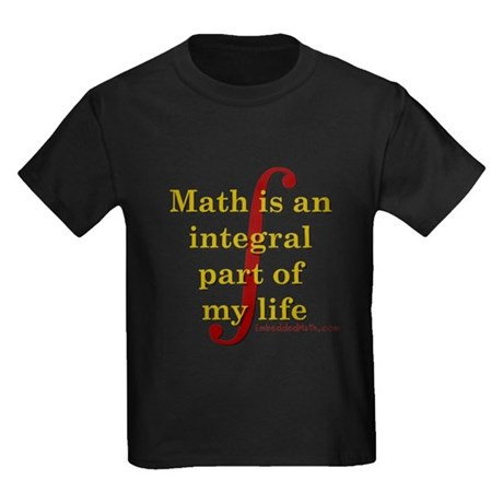 Math is integral Kids Dark T-Shirt