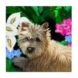 CAIRN TERRIER GARDEN Tile Coaster