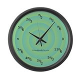 Cute Embeddedmath Large Wall Clock
