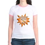 Hockey Mom! Jr. Ringer T-Shirt